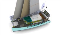 Development of alloy cruising catamaran