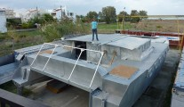 Manufacturing alloy cruising catamaran